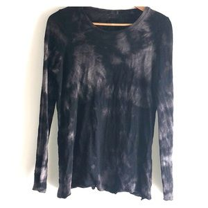 ATM Tie Dye Distressed Cotton Sweater TeeShirt Top